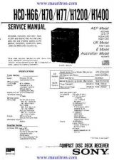 Buy Sony HCD-H1200 Manual by download Mauritron #321581