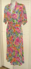 Buy Christian Dior 10 Maxi Skirt Suit Short Sleeve Watercolor Tropical Spring 12 10