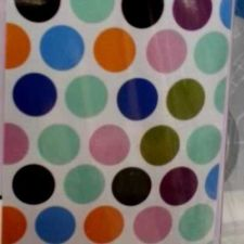 Buy SHOWER BATH CURTAIN MODERN POLKA DOT WATERPROOF FABRIC 180*80 CM FREE SHIPPING
