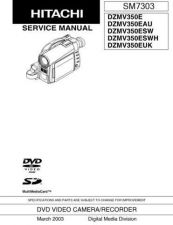 Buy Hitachi DZMV380ESW_FR Service Manual by download Mauritron #290074