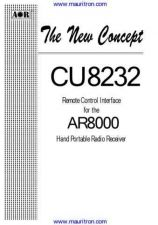 Buy AOR CU8232 Remote Control Interface User Guide (2) by download Mauritron #306741