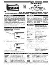 Buy Texmate DU-45 DU15 L2-23-06 Instructions by download #336520