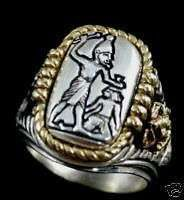 Buy Menes First Egyptian Pharaoh ring Sterling Silver Large