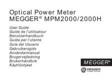 Buy Megger MPM2000H Operating Guide by download #336249