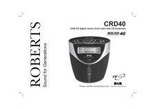 Buy Roberts SOUND 40 DAB Radio Operating Instruction Guide by download Mauritron #306692