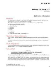 Buy Fluke 110 Calibration Manual by download Mauritron #315986