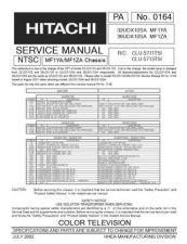 Buy Hitachi 36UDX10SA MF1ZA Service Manual by download Mauritron #287864