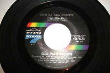 "Buy ELLA WASHINGTON .SWEETER AND SWEETER.ORIGINAL SOUND STAGE 7 ,7"".VG"