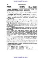 Buy VIDOR. CN392 Vintage. Service Sheets. by download Mauritron #315269