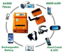 Buy 500 Times 6600MAH Outdoor Rechargeable Battery Power/Hand Crank Generator