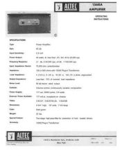 Buy Altec 1568A Amplifier Operating Guide by download Mauritron #315953
