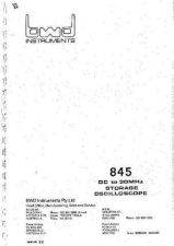 Buy BWD 845 Oscilloscope Service Manual and Operating Guide Combined by download Mauritro