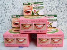 Buy 25g 3 BOX RASYAN HERBAL CLOVE TOOTHPASTE REDUCE CIGARETTE ANTI BAD BACTERIA