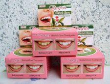 Buy 25g 3 BOX RASYAN HERBAL CLOVE TOOTHPASTE REDUCE CIGARETTE ANTI BAD BACTERIA