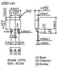 Buy SMT Transistor - 2SB1181 PNP Power Amplifier (D-Pak) - 14 Pieces