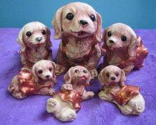 Buy MINIATURE SPANIEL DOG FAMILY COCKER HANDCRAFT PAINTING