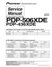 Buy Panasonic PDP-436XDE Manual by download Mauritron #301081