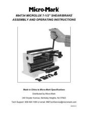 Buy Micromark 84734 Shear Brake Operating Guide by download Mauritron #332310