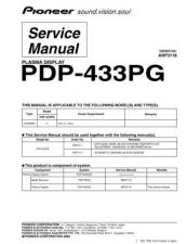 Buy Panasonic PDP-433HDG-TLDPBR[1] (2) Manual by download Mauritron #300945