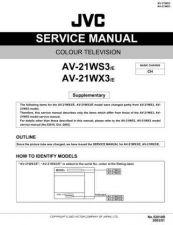 Buy JVC AV-21W83B-4 Service Manual by download Mauritron #279682