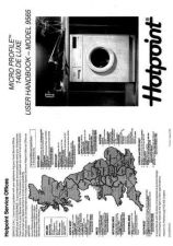 Buy Hotpoint 9565 Washer Operating Guide by download Mauritron #307437
