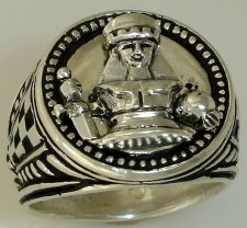 Buy Queen Victoria Chess piece Mens Signet ring Sterling Silver
