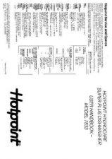 Buy Hotpoint 7833 Dishwasher Operating Guide by download Mauritron #314882