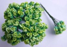 Buy 100 GREEN MULBERRY PAPER ROSE FLOWER EMBELLISHMENT ARTIFICIAL SCRAPBOOK WEDDING