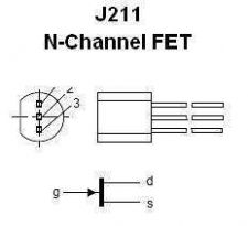 Buy Transistor - J211 N-Channel RF FET - 10 Pieces