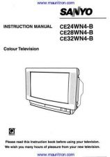 Buy Sanyo CE28WN4B Operating (2) Manual by download Mauritron #312596