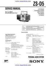 Buy Sony ZS-D5 by download Mauritron #315843