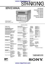 Buy Sony STR-NX1NX3 Technical Manual by download Mauritron #327128