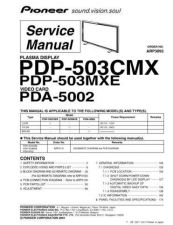 Buy Panasonic PDP-503CMX-LUCB Manual by download Mauritron #301111