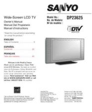 Buy OPM Sanyo DP-23625 Television Service Manual by download Mauritron #322113