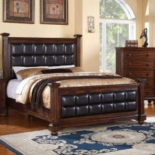 Buy California King Bed Bedroom set 5 Piece Bedroom furniture Poundex #F9273