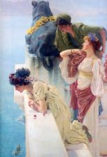 Buy A Coign of vantage by alma tadema Unframed on canvas. Vintage