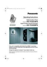Buy Panasonic KX-TCD210HGS---- Manual by download Mauritron #300031