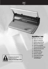 Buy Rexel MultiBind 208 Operating Guide by download Mauritron #329821