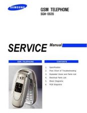 Buy Samsung SGH-E620 Mobile Phone Service Manual by download Mauritron #306337