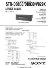 Buy Sony STR-DB830-DB930-V929X Technical Manual by download Mauritron #328938