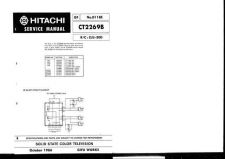 Buy Hitachi CT4555 Service Manual by download Mauritron #289628