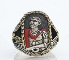 Buy Julius Caesar Mens Gladius ring Sterling Silver Lge
