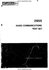 Buy Marconi 2955 Operating Guide by download Mauritron #332193