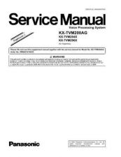 Buy Sharp KX-TVM200AG Manual by download Mauritron #298482