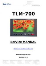 Buy Datavideo TLM-702 Service Manual by download Mauritron #324966