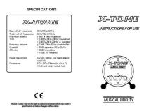 Buy Musical Fidelity XTONE Operating Guide by download Mauritron #326963