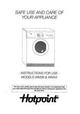 Buy Hotpoint WM43 Laundry Operating Guide by download Mauritron #314161