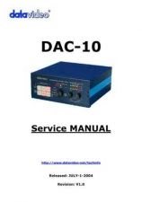 Buy Datavideo DAC100 Operating Guide by download Mauritron #324904