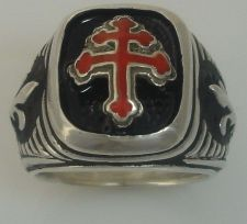 Buy Special forces Cross of Loraine Signet Sterling Silver 925 ring