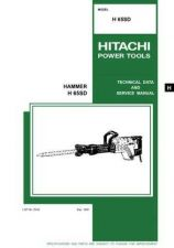 Buy Hitachi H65SD Tool Service Manual by download Mauritron #320044